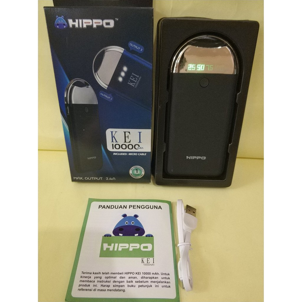 Power Bank Hippo Stan 6600 Mah Original Shopee Indonesia Hays 6000 Simple Pack Grey