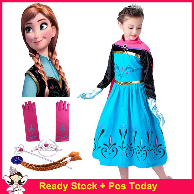 Elsa/&Anna Dress Adult Girls Sequins Costume Snow White Cinderella Cosplay
