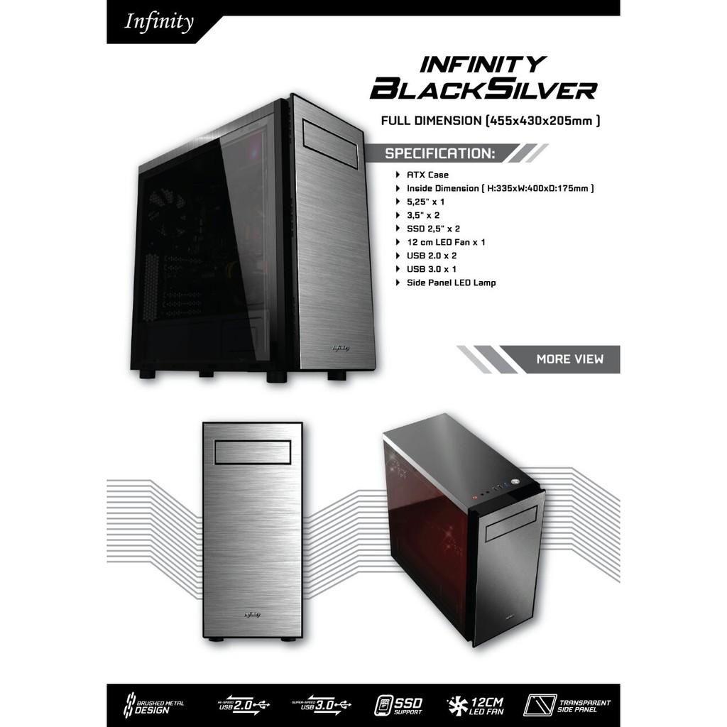Kipas Fan Case Komputer Computer Cpu Pc Infinity Hallo Spectrum 5 12 Cm Alseye Sooncool Led 12cm Controller Shopee Indonesia