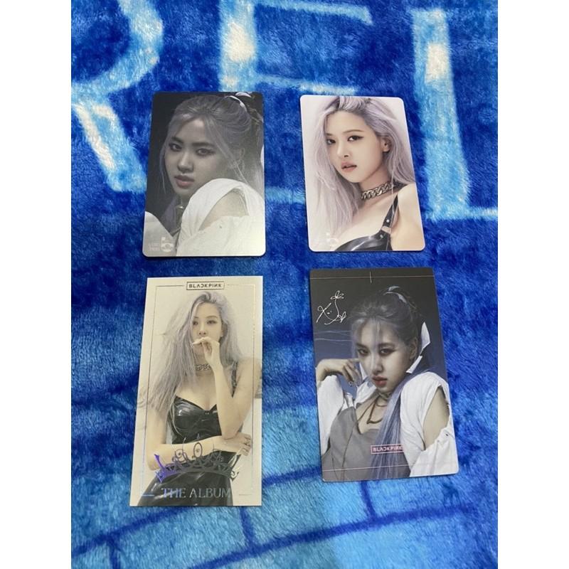 Rose photocard blackpink rosé pc cashbee the album hylt benefit yg select thai jisoo jennie lisa