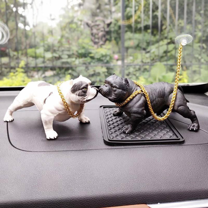 Pajangan Dashboard Mobil Model Boneka Anjing Bulldog Mengayun Shopee Indonesia