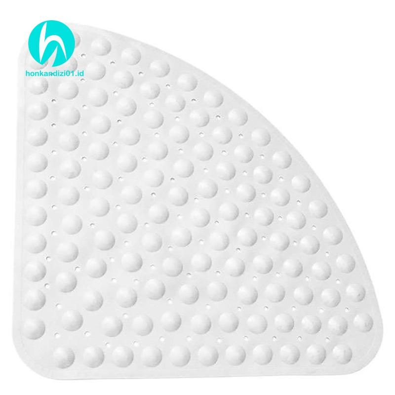 Non-slip Bathroom Mat Corner Shower Mat Sector Rubber Anti-slip Quadrant Bath Mat Anti-bacterial Suction For Shower Tub Non-slip Bathtub Mat 54x54cm