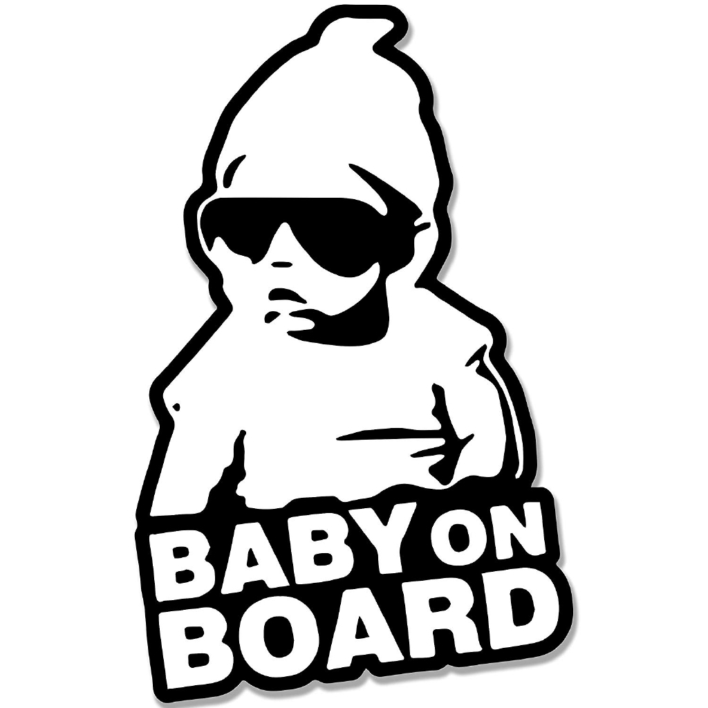 Cool Baby on Board Vinyl Car Sticker with Sunglasses Sign Decal Window