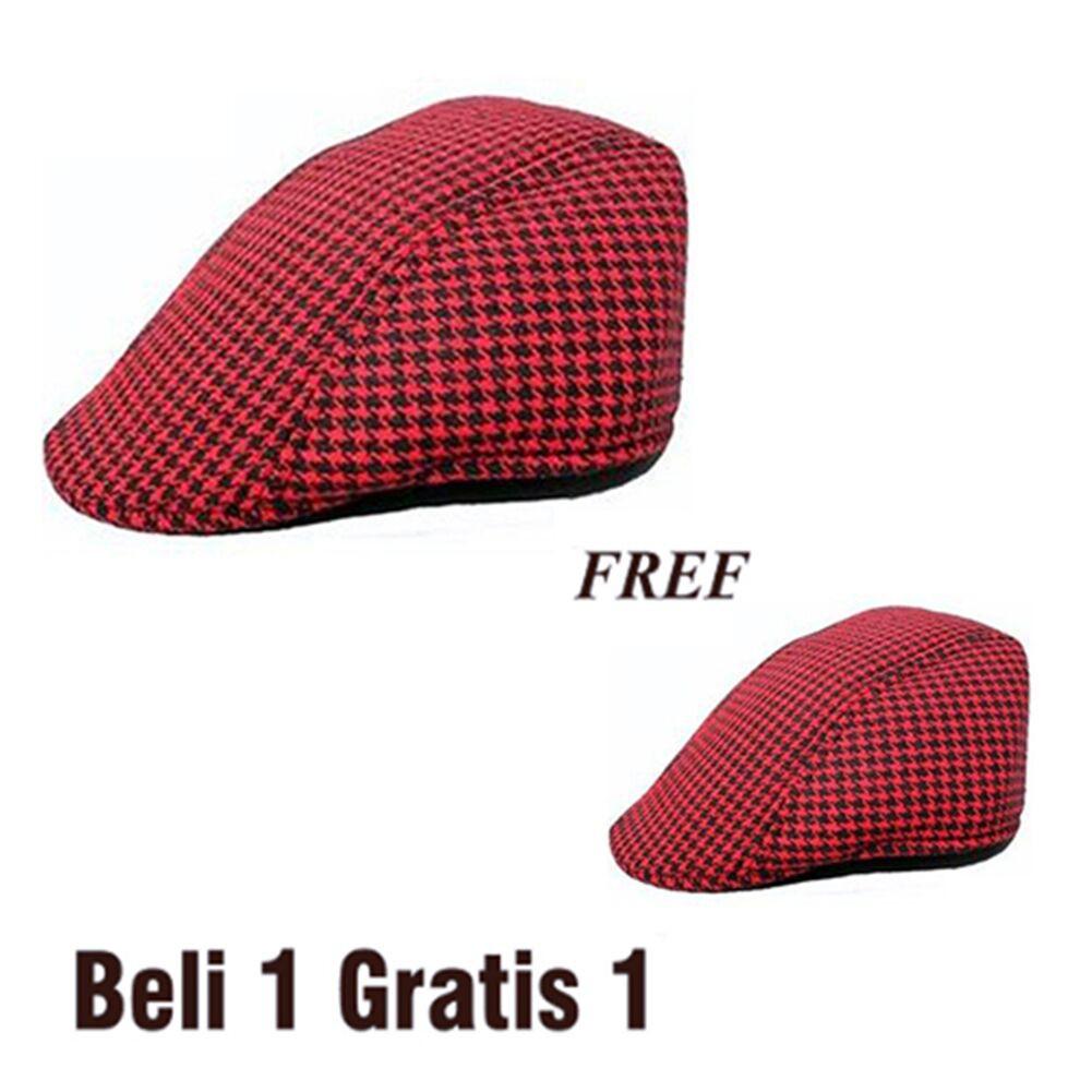 037ca1c2859 Topi pet   Newsboy Cap   flatcap Bahan Cotton Fleece
