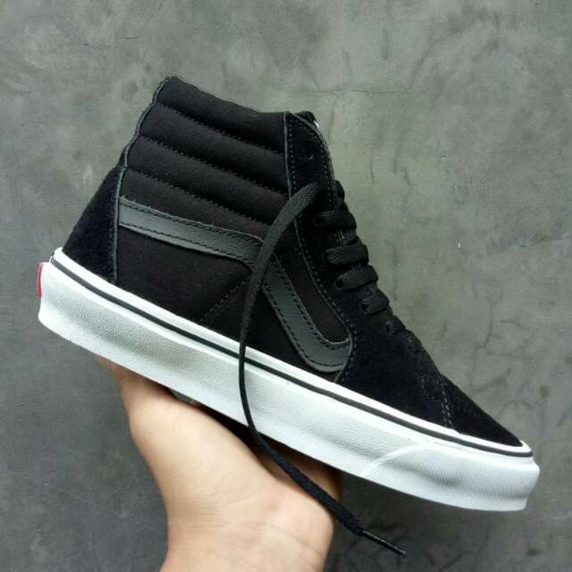 Sepatu Vans Authentic Mono Black Original PREMIUM Made In China Waffle DT 04c61cb84b