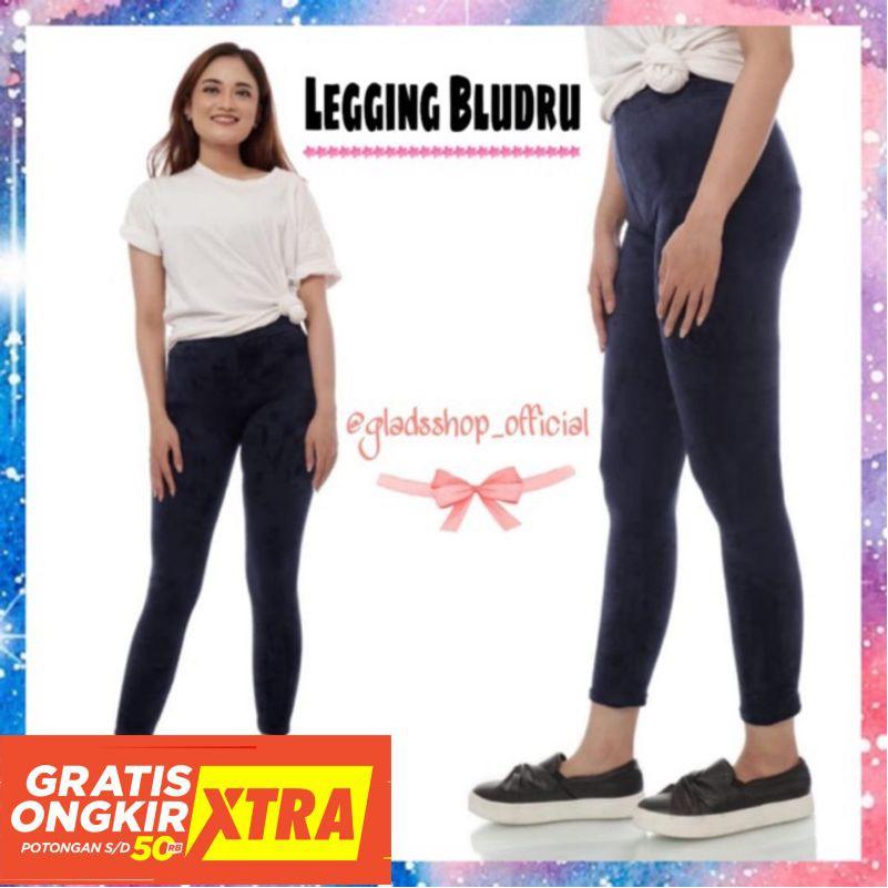 Bahan Terbaik Kualitas Oke Celana Legging Bludru Wanita Suede Legging Wanita Import Legging Shopee Indonesia