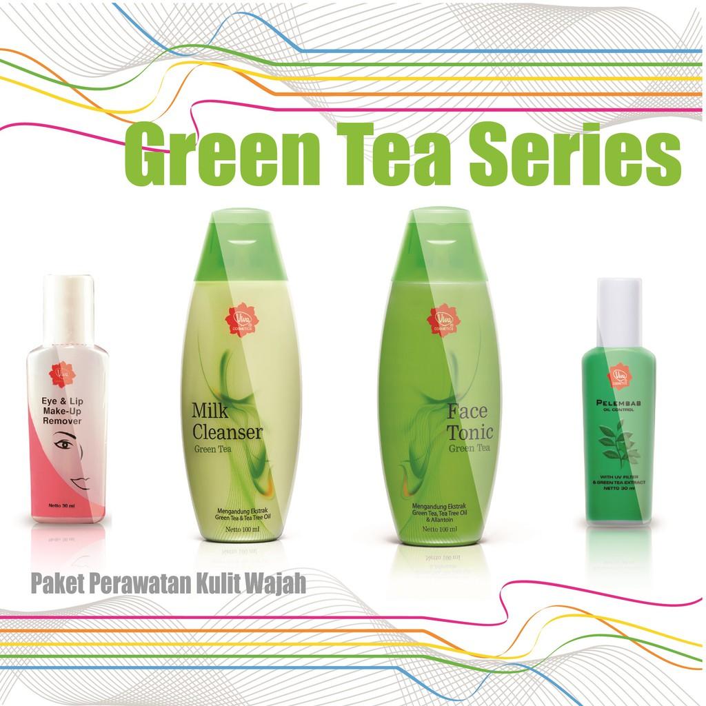 Dapatkan Harga Kosmetik Diskon Shopee Indonesia Paket Pembersih Wajah Milk Cleanser Face Tonic Green Tea Viva Cosmetics