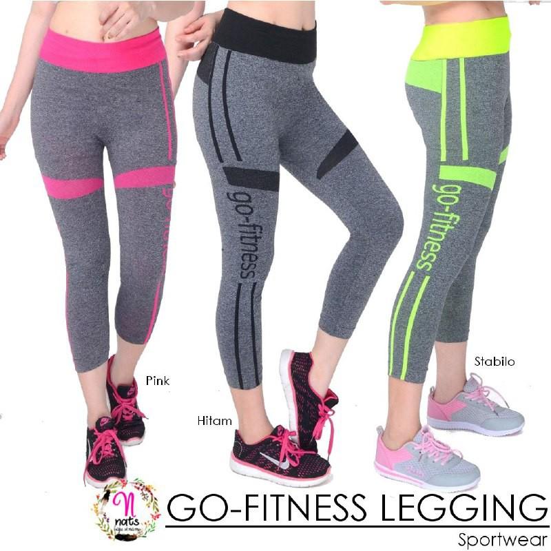 Legging Go Fitness Sport Senam Legging Sport Fitness Celana Senam Aerobic Shopee Indonesia