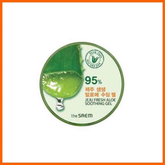 New The Saem Jeju Fresh Aloe Vera Soothing Gel 95 Expired Terbaru 2022 Shopee Indonesia