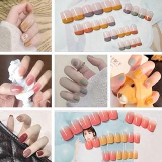 Kuku Palsu Seri R Net Red Daisy False Nail Wear Nail Finished Nail Manicure Patch Removable Nail Patch Waterproof 24 Pieces thumbnail