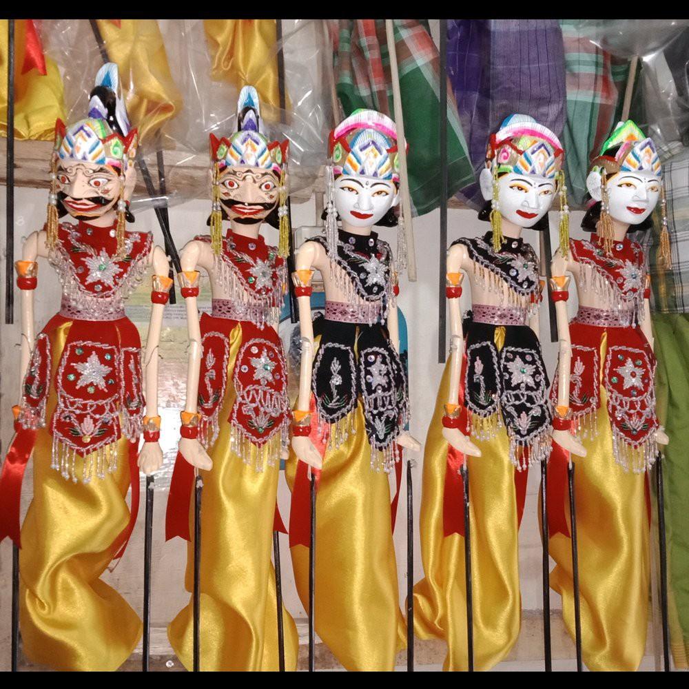 Wayang Golek Satria Arjuna Yudiatira Nakula Sadewa Hanoman Rahwana Bima Murah Shopee Indonesia