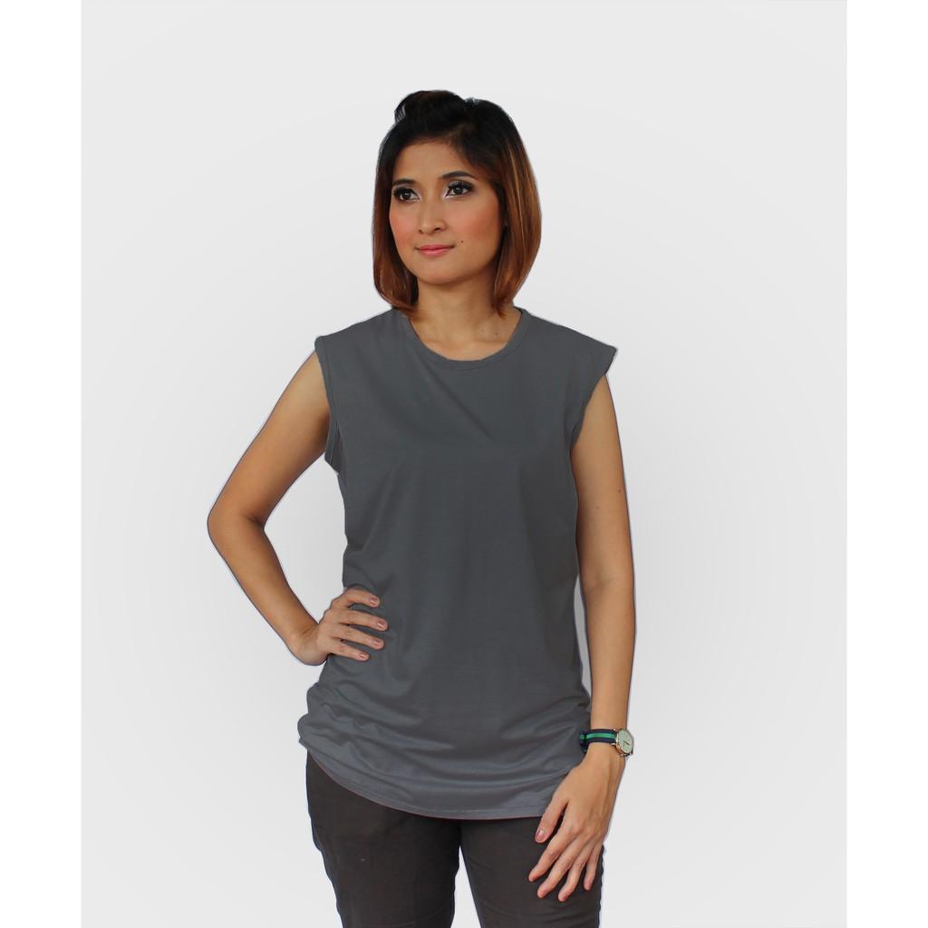 Just Mom baju menyusui Inner Viola - Dark Grey VL119