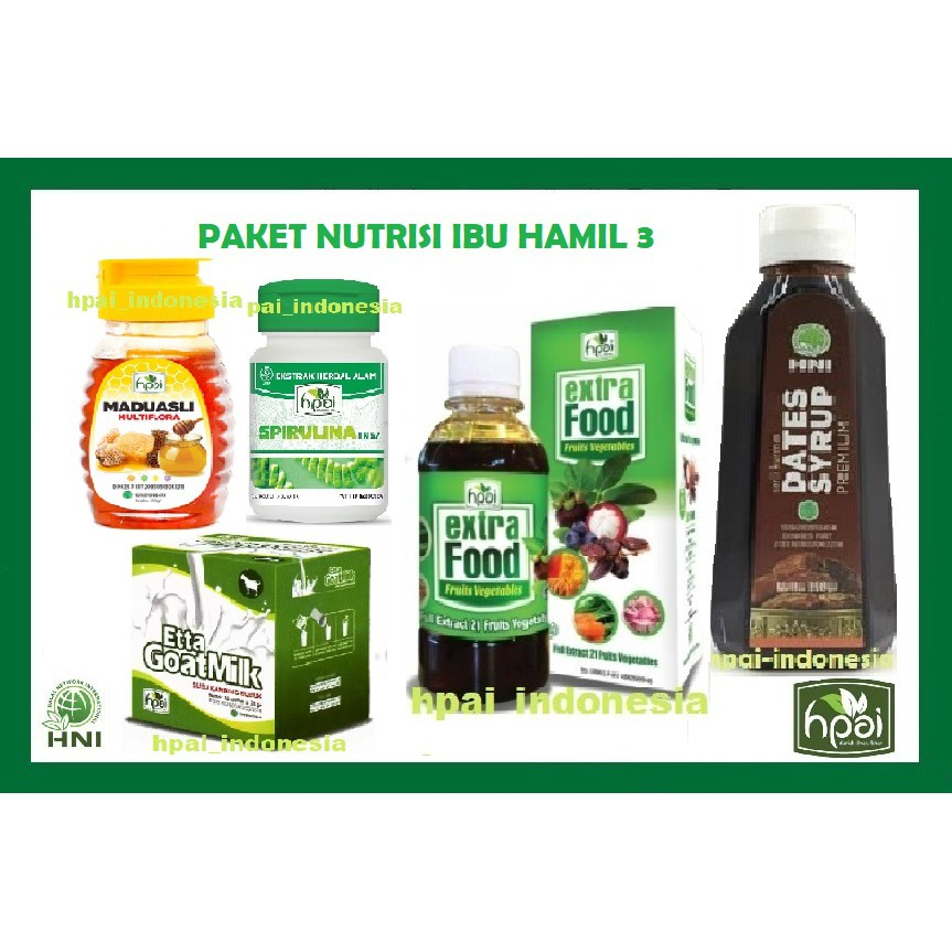 Paket Nutrisi Ibu Hamil Herbal Hni Hpai Lengkap Ibu Menyusui Busui