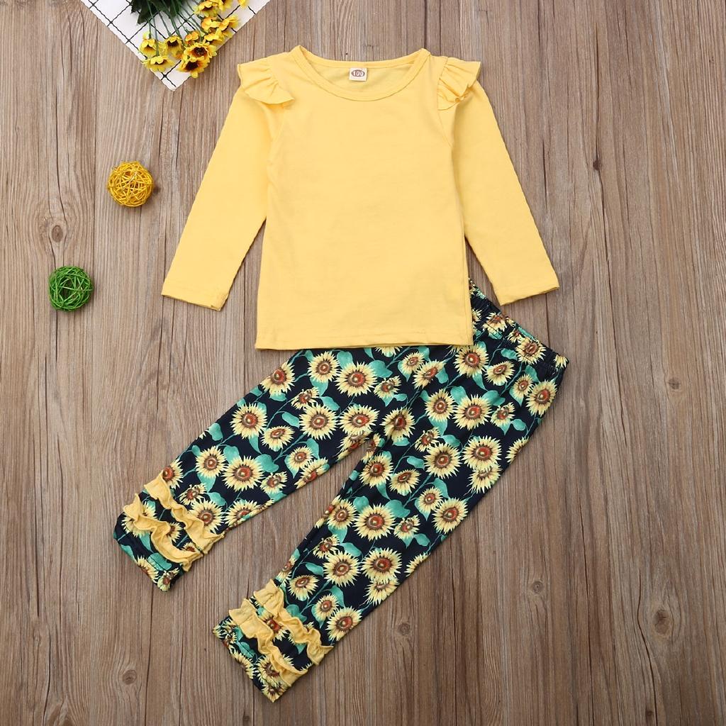 Seeing Celana Legging Panjang Motif Bunga Matahari Warna Kuning Polos Untuk Bayi Perempuan Shopee Indonesia