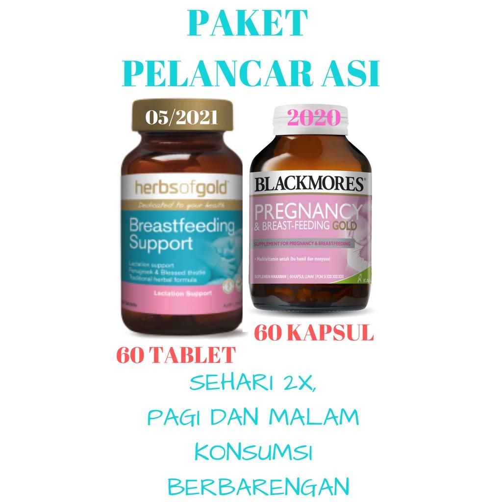 Paket Booster Asi Blackmores Kalbe 60 Dan Herbs Of Gold Tablet Breastfeeding Support Tablets Pelancar Murah Bm Hog Shopee Indonesia