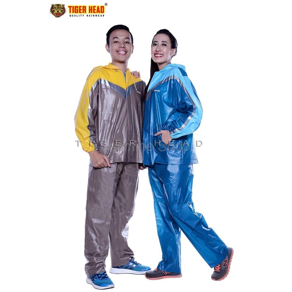 Jas Hujan Stelan Strech Boxy 68236 Tiger Head Jaket Motor Best Seller Poncho Big Top Tangan