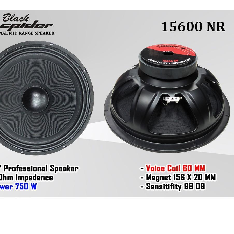 "❀ Langsung Proses ❀ Speaker 15 "" Black Spider 15600 NR Original ,,,"