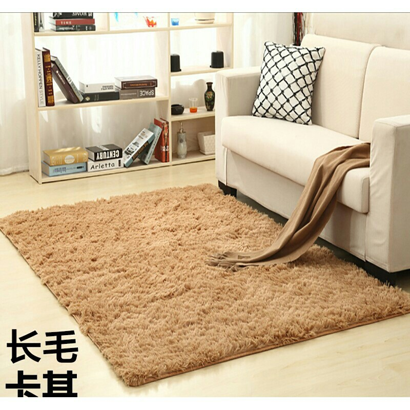 Floor Mat Soft Shaggy Rug Carpet (brown. Source · Karpet bulu .