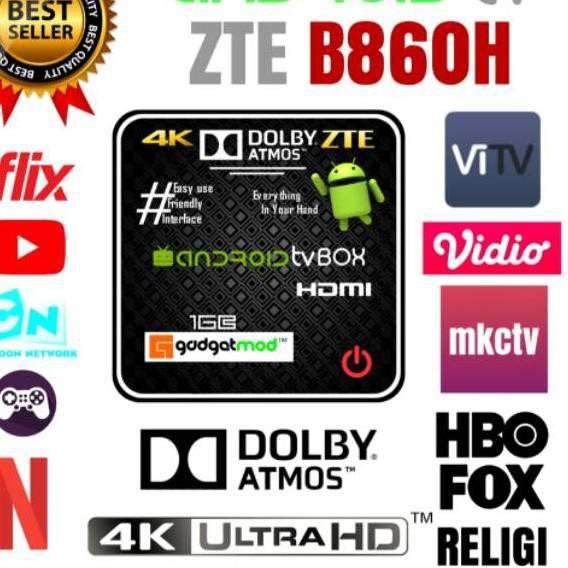 (kode-597) STB B860 Ram 1Gb ex 8Gb Full Root & Unlock ( Android Tv Box )+ Bonus Kode VITV aktif 1th