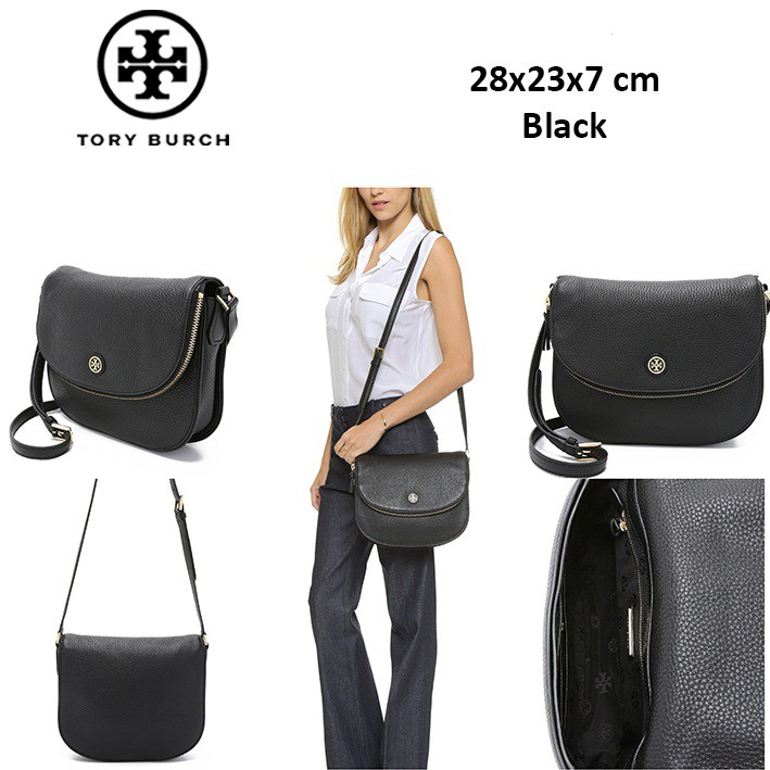 7ff16161a303 TORY BURCH MARION SMALL LEATHER FLAP DB413