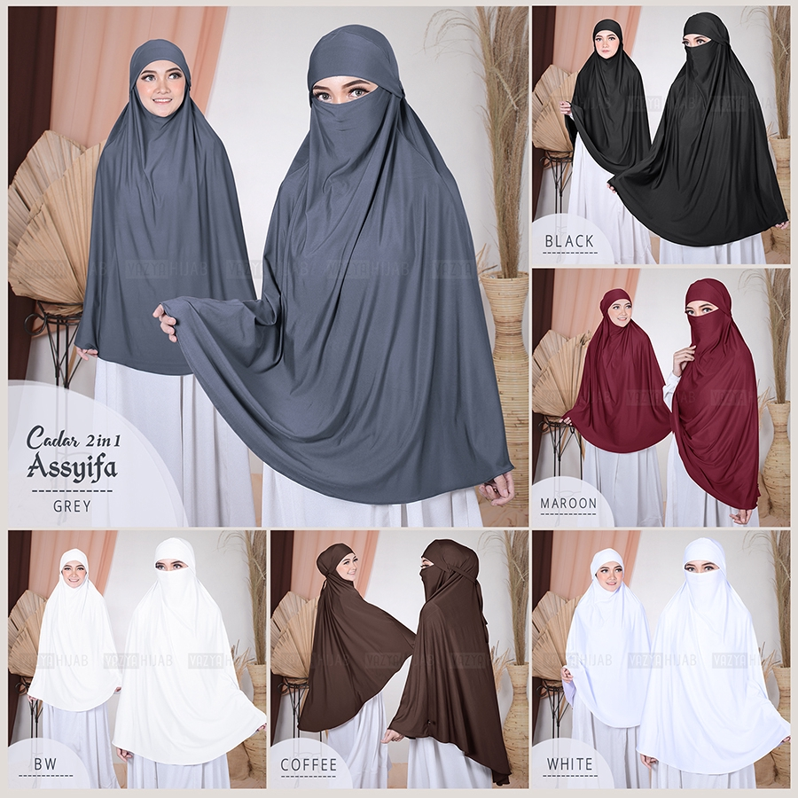Khimar Cadar 2in1 Assyifa Shopee Indonesia