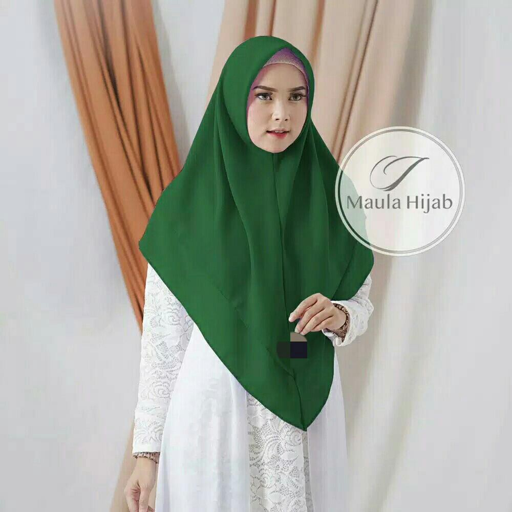 Umairah Hijab Kayla Dua Layer Jilbab Instan Non Pet Warna Hijau Botol Konveksi Murah Harga Grosir Shopee Indonesia