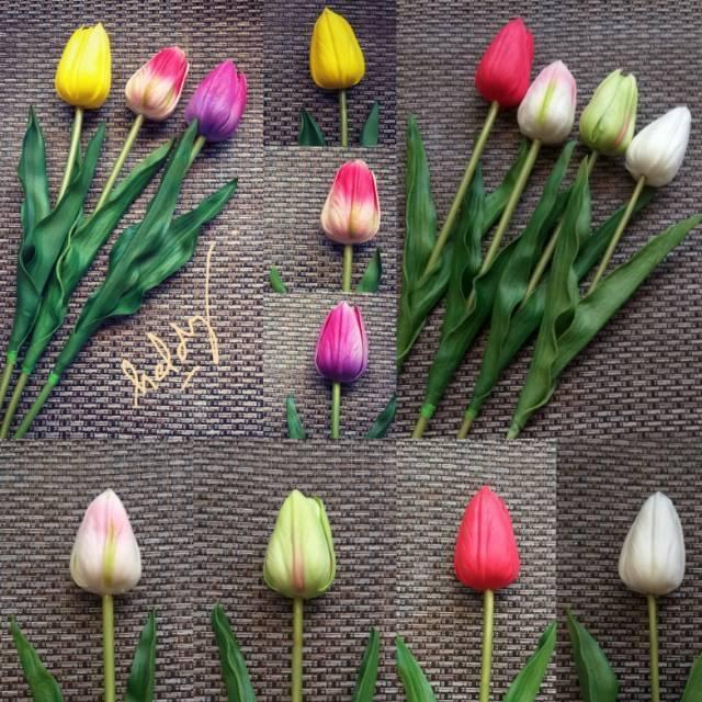 Bunga Tulip Latex Besar 5 Tangkai 46 Cm Shopee Indonesia