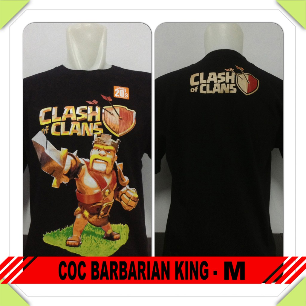 Kaos Clash Of Clans Coc Coc Barbarian King M Shopee Indonesia