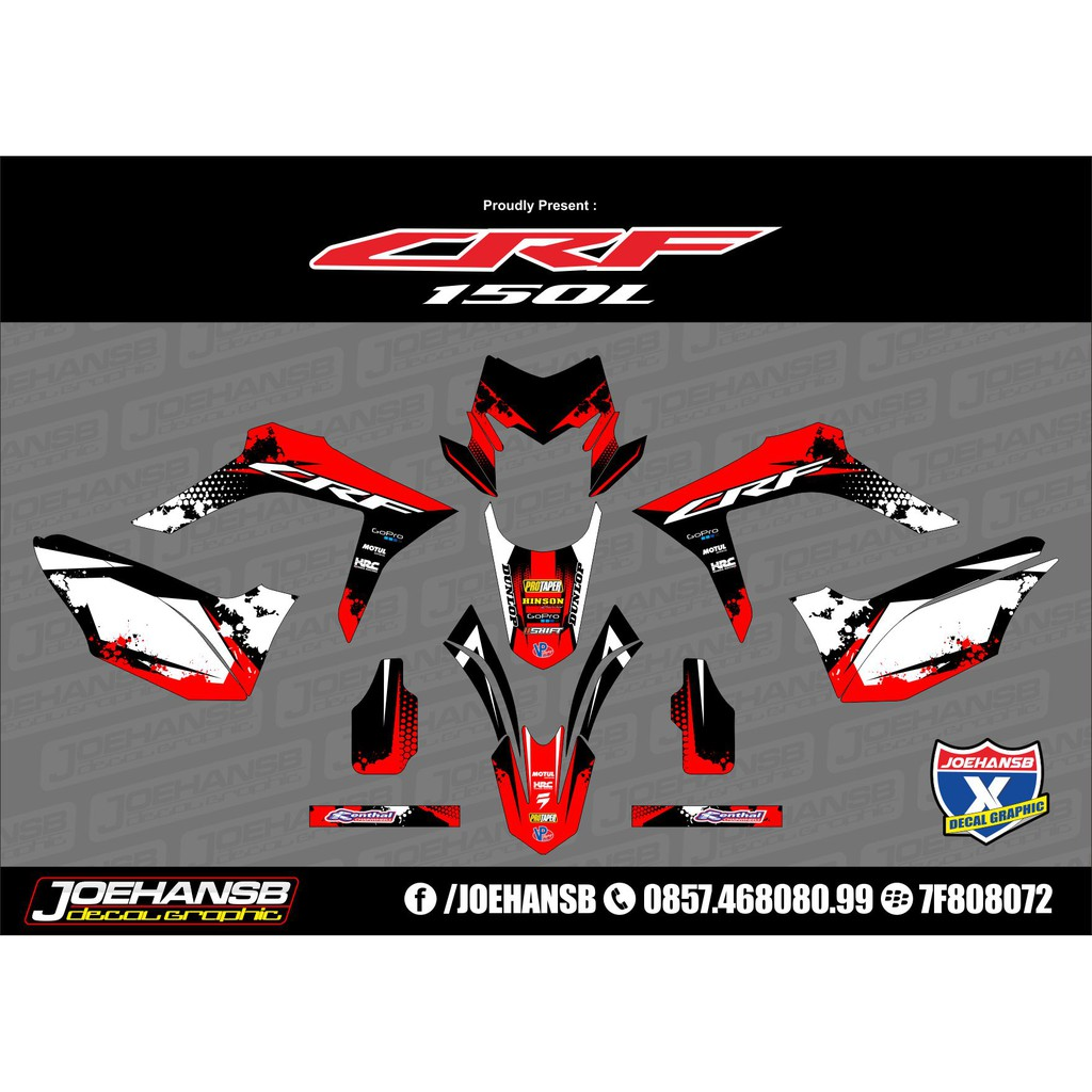 Decal sticker striping custom motor trail honda crf 150l shopee indonesia
