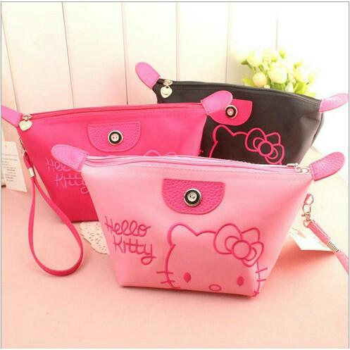 Tas Kosmetik Hello Kitty Bordir / Make Up Bag Organizer Pouch - X443 | Shopee Indonesia