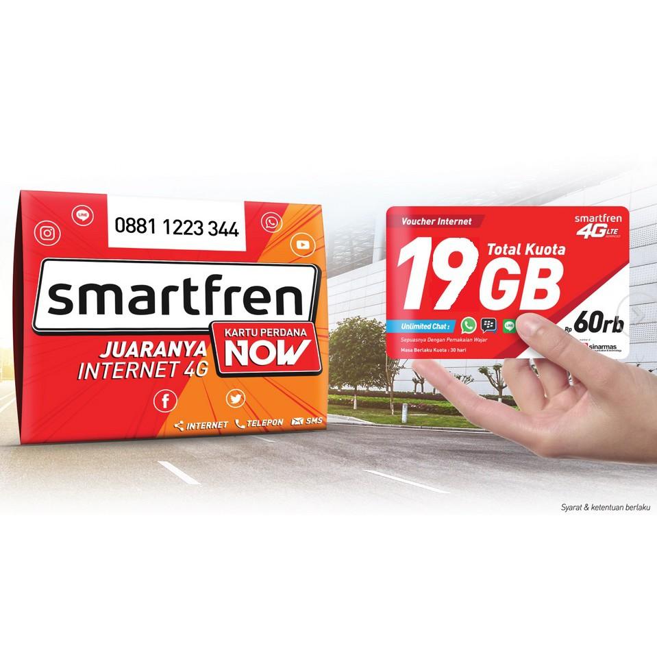 Perdana Smartfren Kuota 16gb Baru Murah Shopee Indonesia 4g Gsm 22 Gb