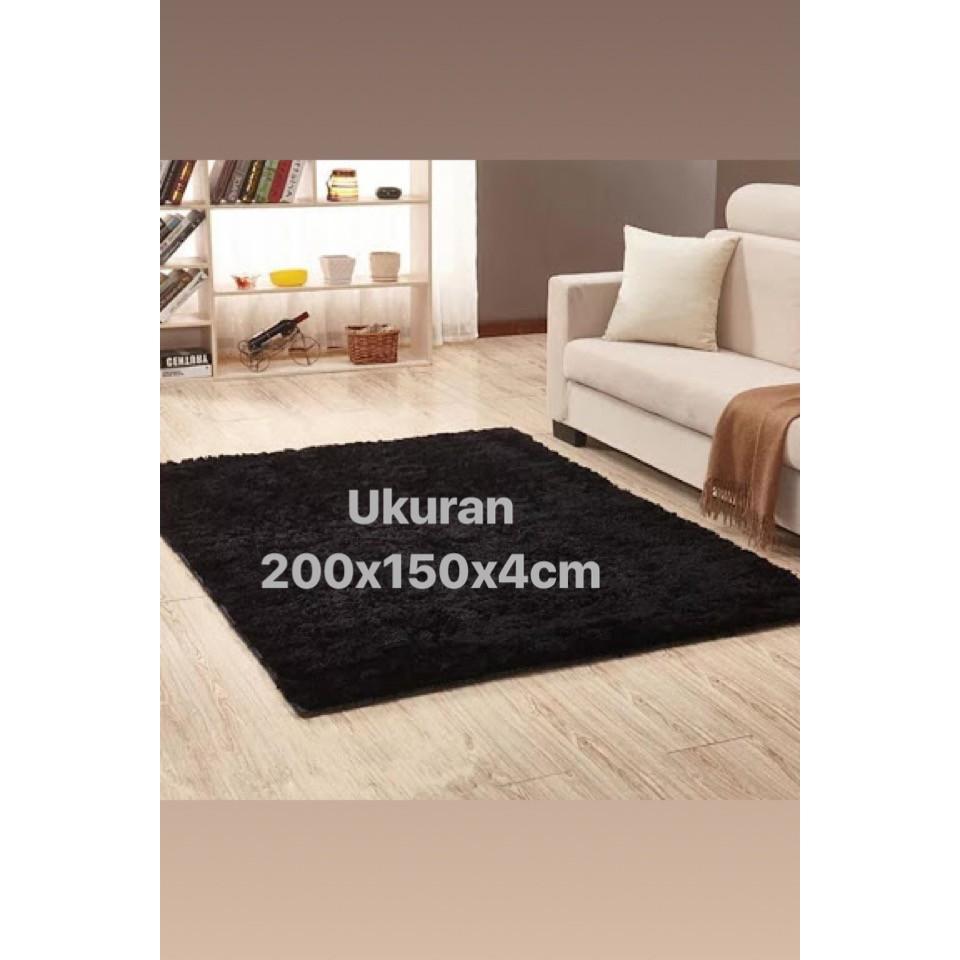 Karpet Busa Empuk Uk 150x200x3cm Shopee Indonesia Matras Bulu 200x150x3cm