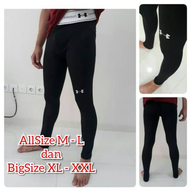 Celana Baselayer Big Size Pria Manset Jumbo Legging Bigsize Base Layer Cowok L Dan Xl Xxl Shopee Indonesia