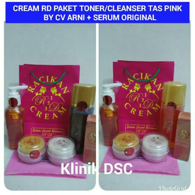 CREAM RD PAKET TONER / CLEANSER BY CV ARNI + SERUM RD ORIGINAL | Shopee Indonesia