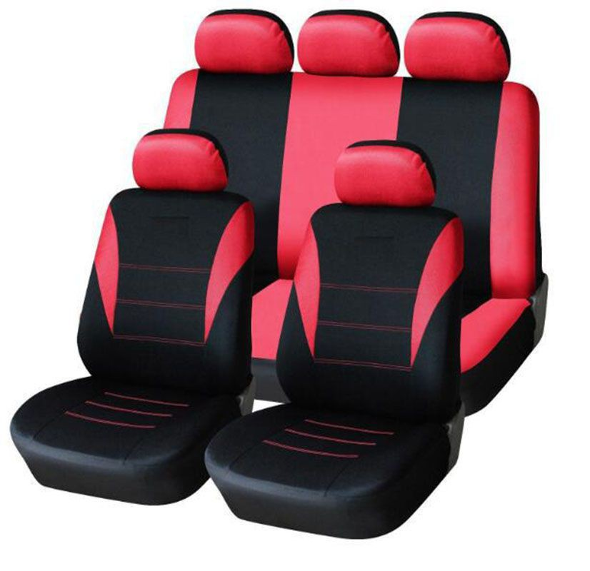 Ready Easy Install 9pcs Set Universal Car Seat Covers Full Set Auto Seat Cover Shopee Indonesia