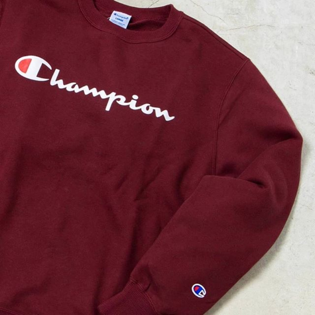 Crewneck Sweater Champion Maroon Original Fulltag Complete Label Unisex Shopee Indonesia