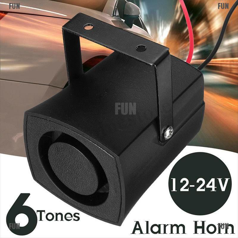 New Alarm Horn Car Warning Single Tone Siren Loud Sound Safe Motorcycle Truck