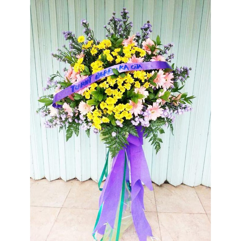 Karangan Bunga Standing Flower Pembukaan Toko Shopee Indonesia