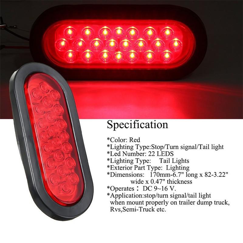 Led Lights For Semi Trucks >> Bayar Di Tempat 2pcs Lampu Led Oval 22 Led Mount Dashboard Mobil Truk Trailer 12v