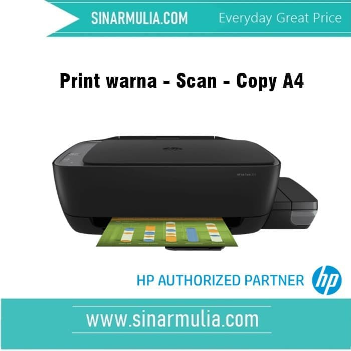 Hp Ink Tank 310 Print Can Copy A4 Shopee Indonesia
