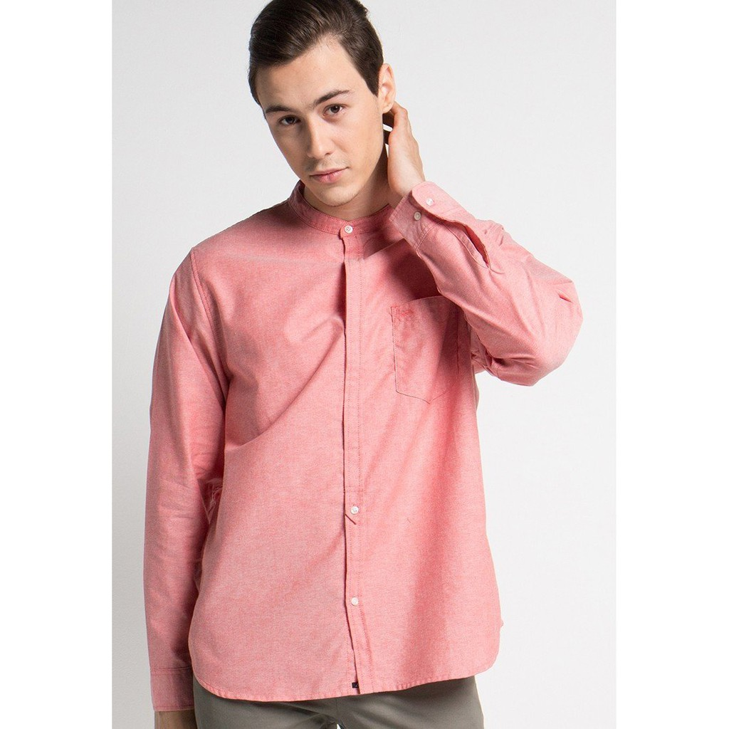 Hiro Ss Shirts In Blue Oxford Kemeja Shopee Indonesia Salt N Pepper Pria Lengan Pendek Snp 034 Hitam L