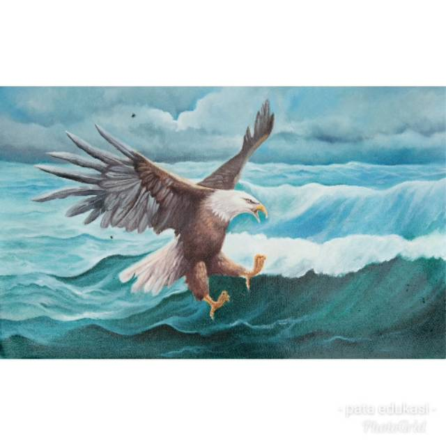 Lukisan Burung Elang 60 X 100 Cm Shopee Indonesia