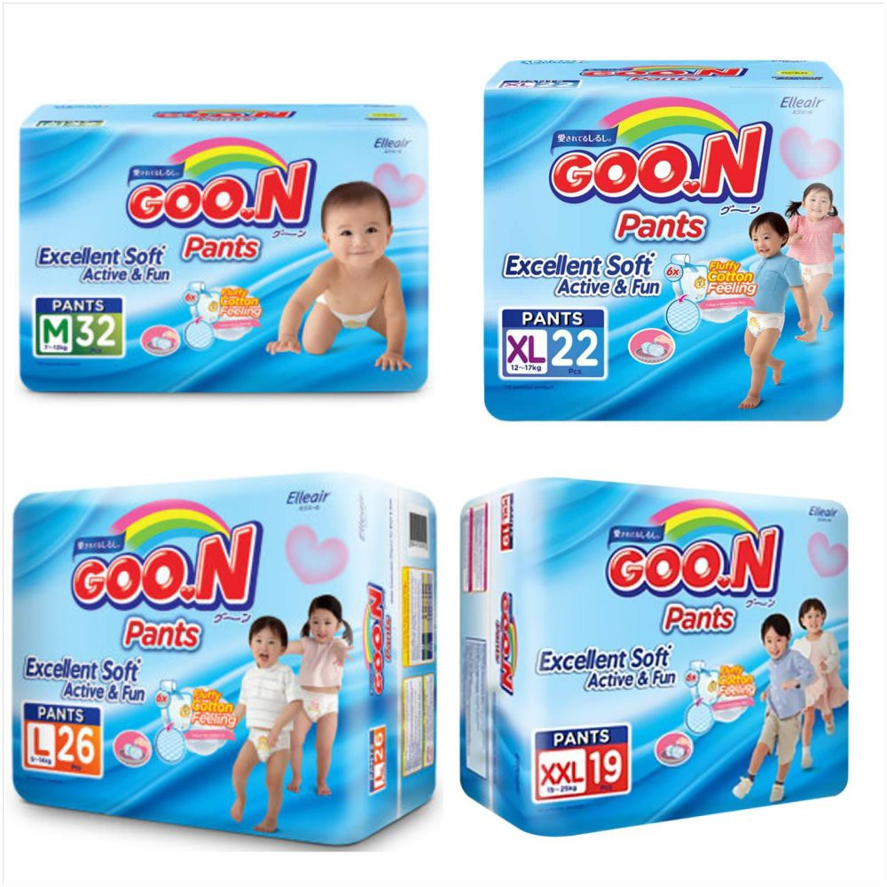 Kemasan Baru Goon Pants Excellent Soft Active Fun M32 L26 Smile Baby Wonderline Jumbo S Isi 22 Xl22 Xxl19 Lo Shopee Indonesia