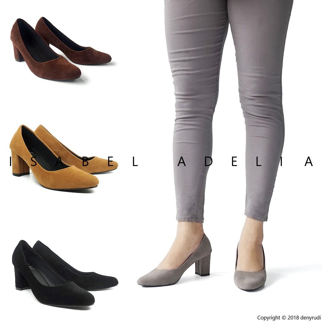 BnG Corner - Pump High Heels Wanita ML01 - Kuning / Hitam / Cream / Merah | Shopee Indonesia