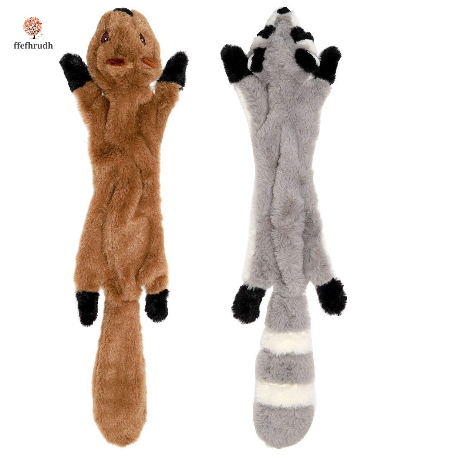 Set Of Dog Stuffed Animals, Cod Dog Chew Toys Set With Squirrel And Raccoon Plush Toy For Dogs 45cm Shopee Indonesia