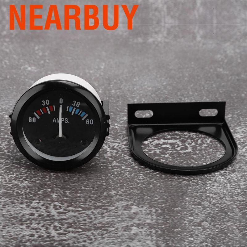 Car Ammeter Voltmeter,2 inch 52mm Car Ammeter Voltmeter 60-0-60A AMP Gauge Volt Meter for Modificaton