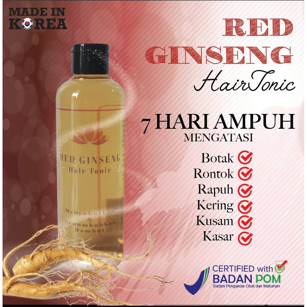 Bio Herbal Red Ginseng Hair Tonic Obat Rambut Rontok Botak Penumbuh Rambut Bpom Shopee Indonesia
