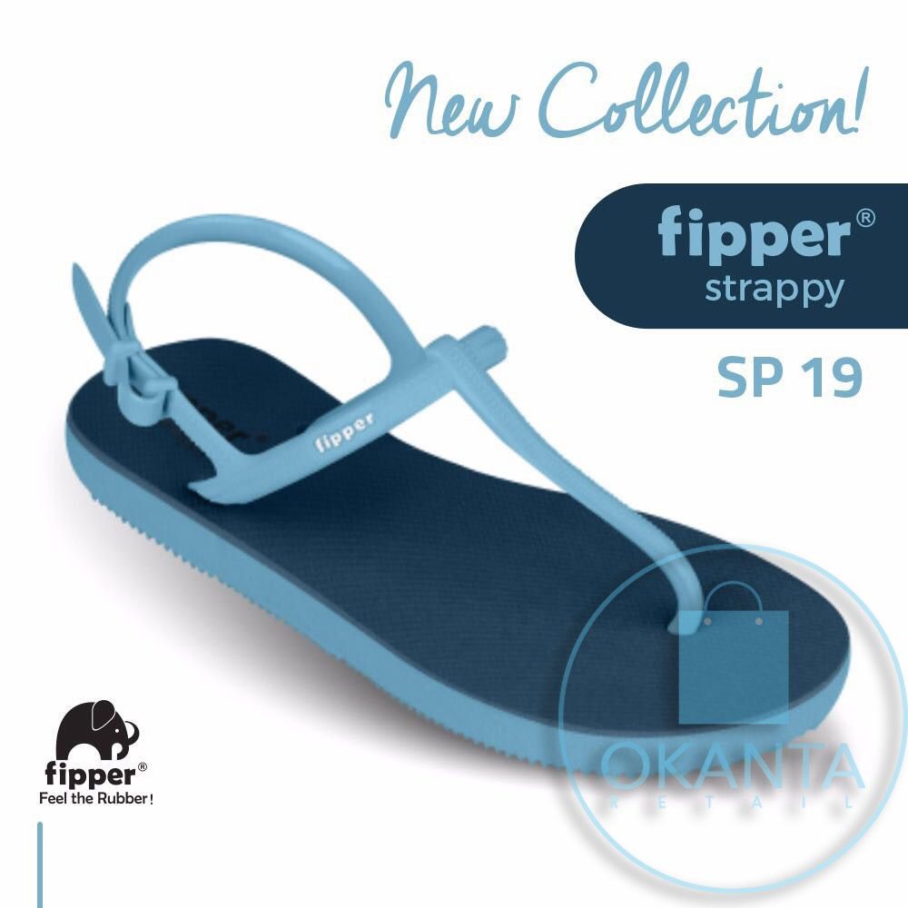Promo Sandal Fipper Strappy Navy Blue Sp 19 Original Shopee Homyped Viola B 27 Black Indonesia