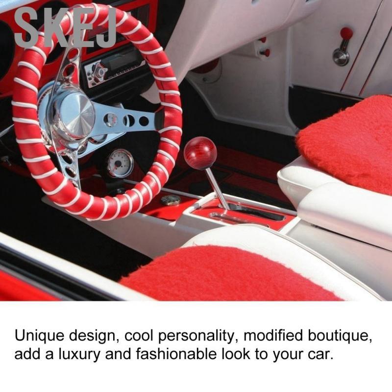 Gearshift head Car Universal Round Shaped Ergonomic Aluminum Manual Gear Shift Knob with Crystals Black .
