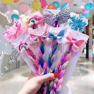 Ikat Rambut Scrunchies Elastis Aksen Payet Glitter Warna-Warni Untuk Anak Perempuan thumbnail